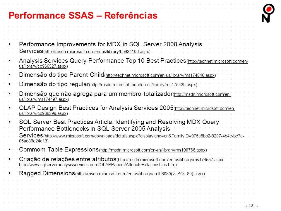 Performance SSAS – Referências
