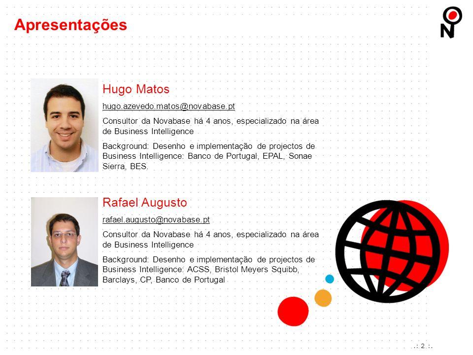 Apresentações Hugo Matos Rafael Augusto hugo.azevedo.matos@novabase.pt