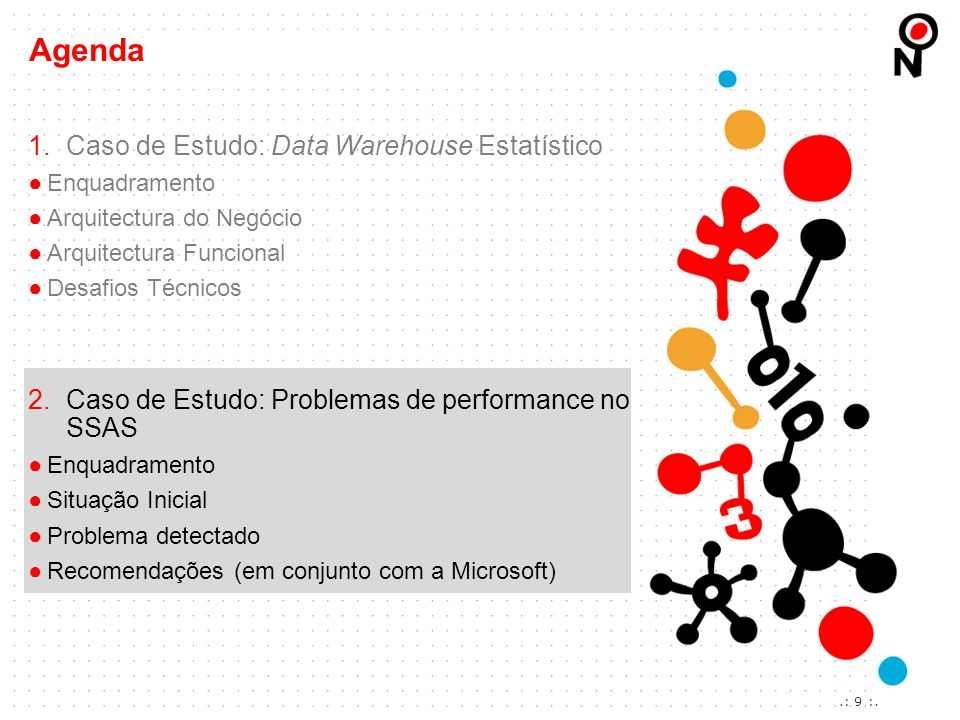 Agenda Caso de Estudo: Data Warehouse Estatístico
