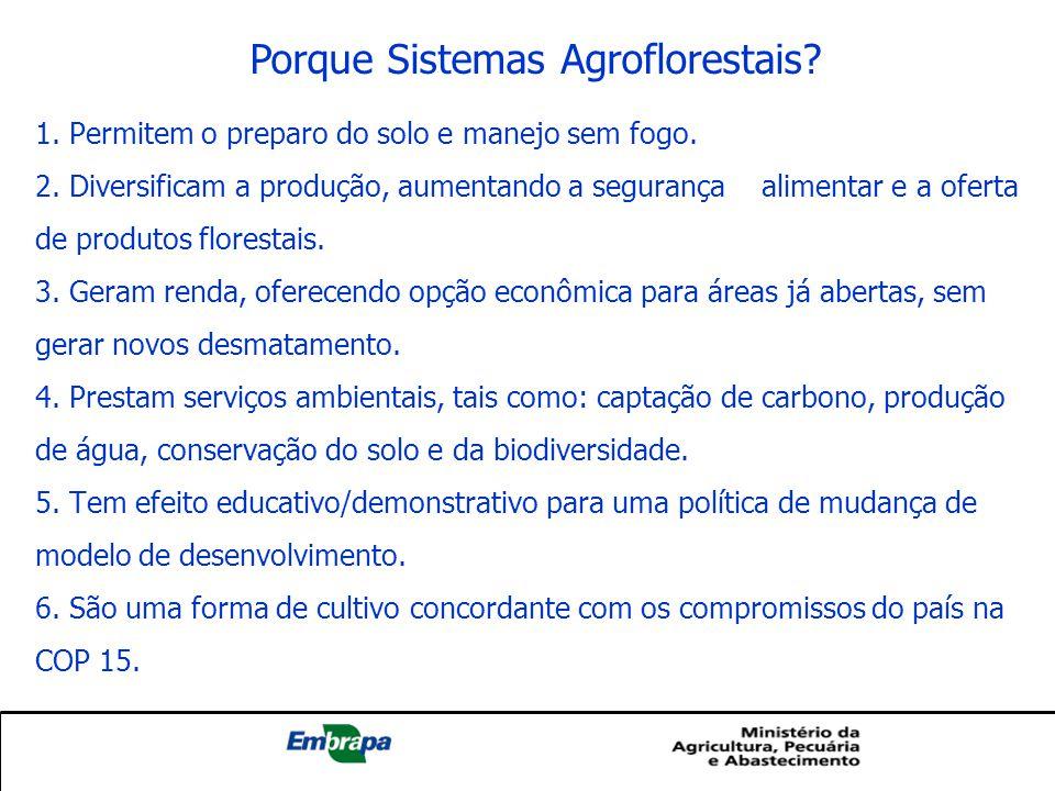 Porque Sistemas Agroflorestais