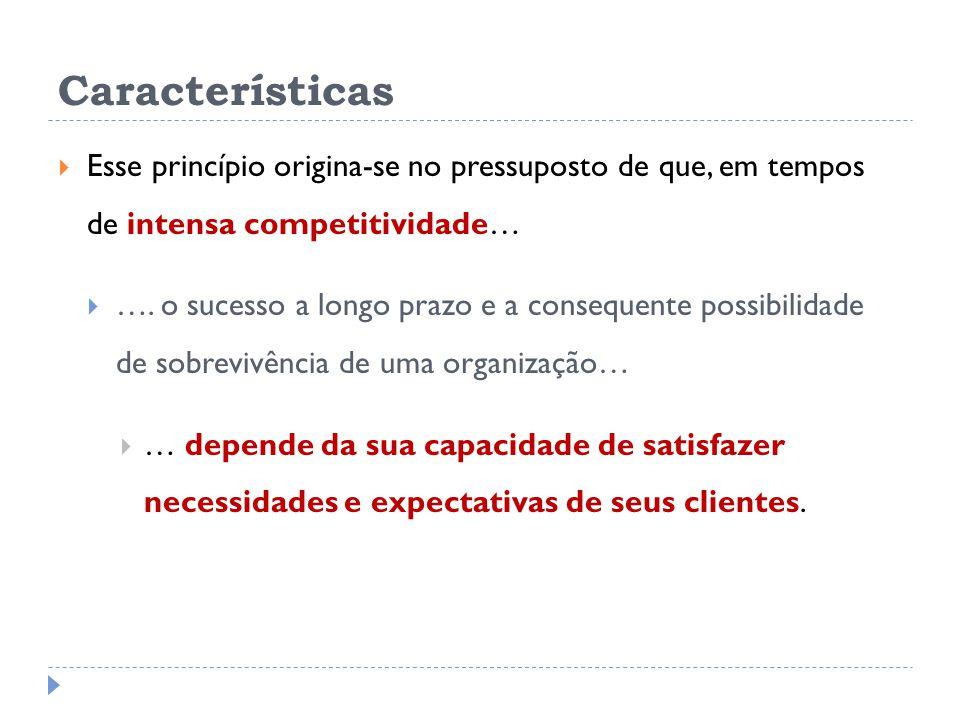 Características Esse princípio origina-se no pressuposto de que, em tempos de intensa competitividade…