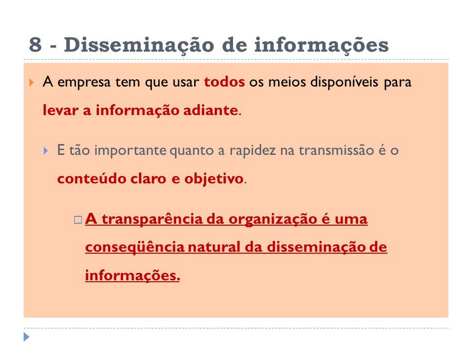 8 - Disseminação de informações
