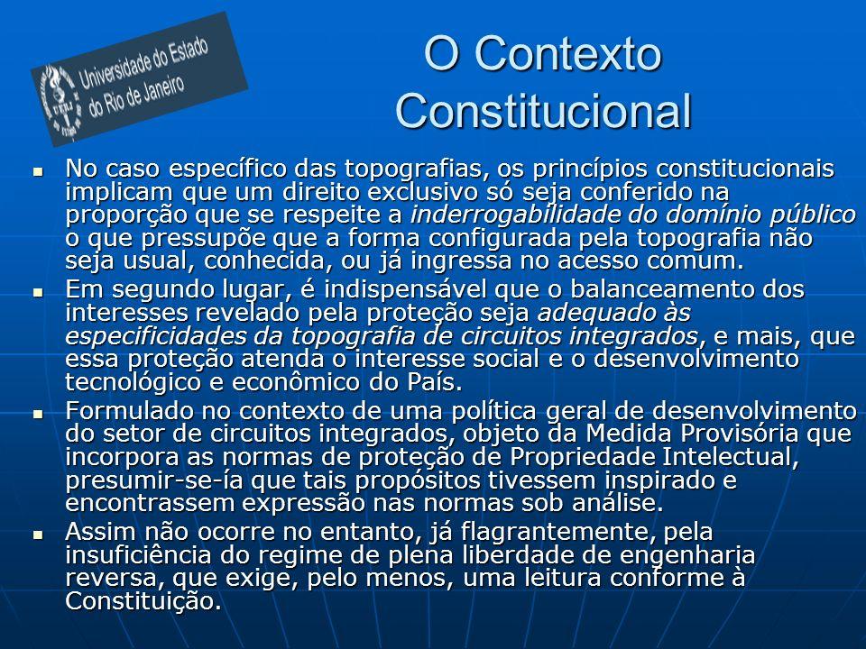 O Contexto Constitucional