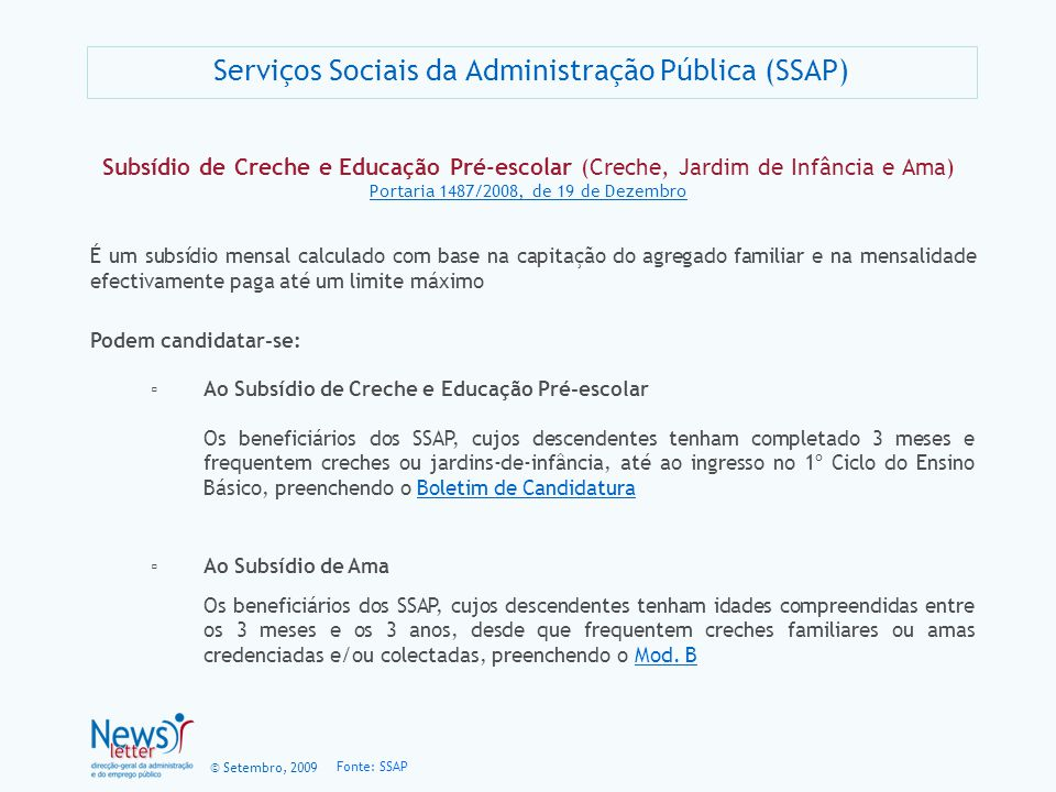 Serviços Sociais da Administração Pública (SSAP)