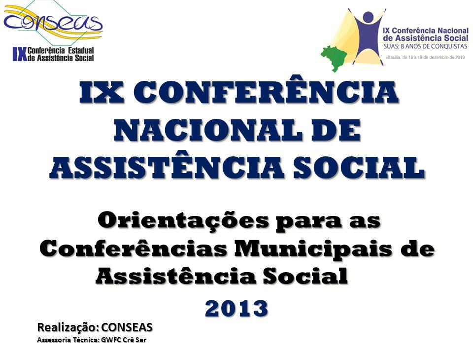 Conferências Municipais de Assistência Social