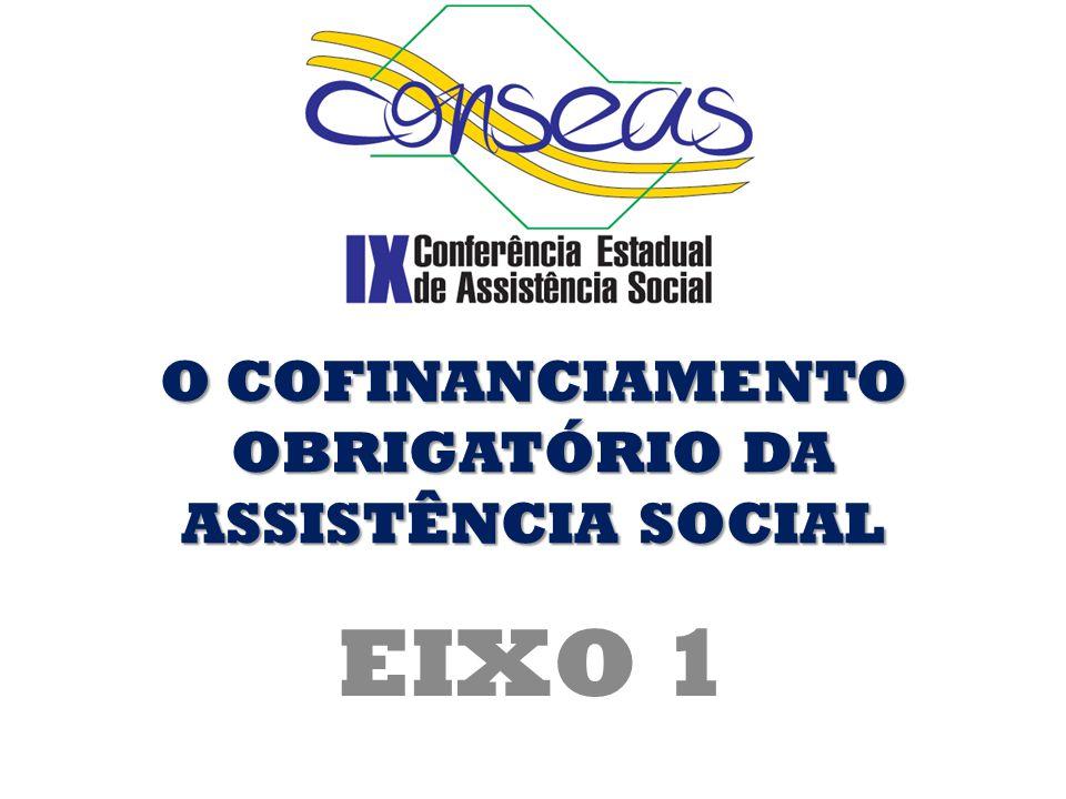 O COFINANCIAMENTO OBRIGATÓRIO DA ASSISTÊNCIA SOCIAL