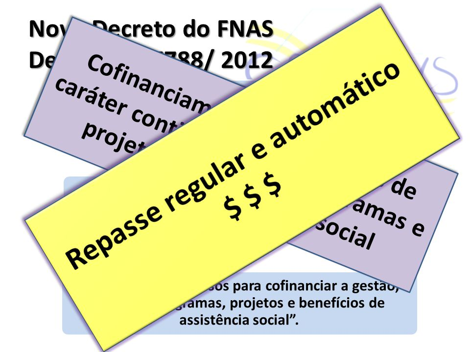 Novo Decreto do FNAS Decreto nº 7788/ 2012