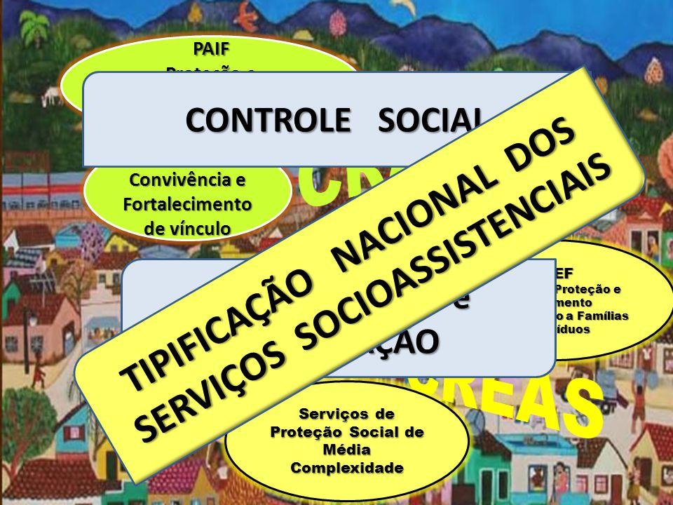CRAS CREAS TIPIFICAÇÃO NACIONAL DOS SERVIÇOS SOCIOASSISTENCIAIS