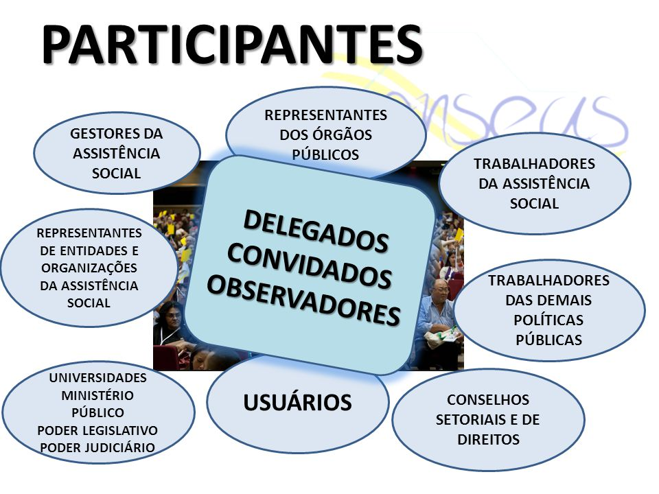 PARTICIPANTES DELEGADOS CONVIDADOS OBSERVADORES USUÁRIOS