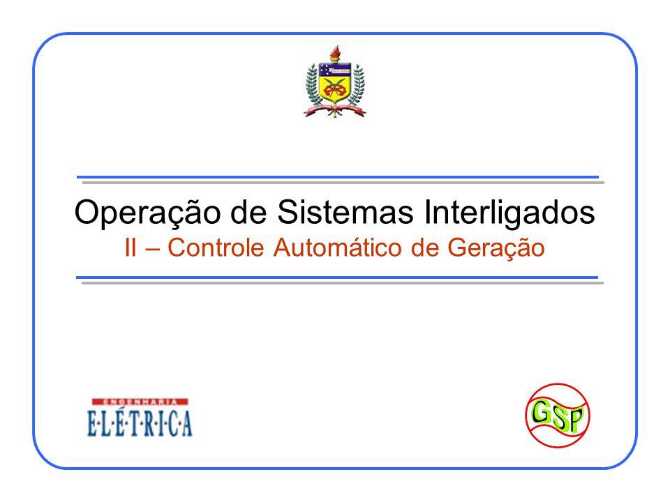 Controle Automático de Geração (Regulação Secundária) - I