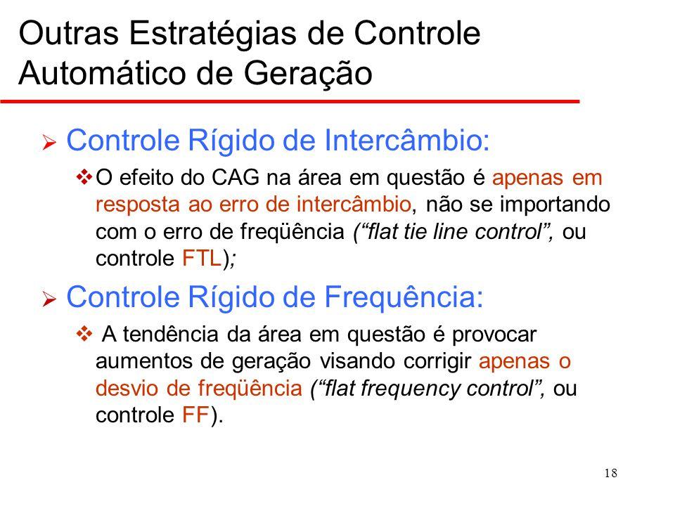 Exemplo: Um sistema de potência é composto por duas áreas interligadas, conforme indicado abaixo.