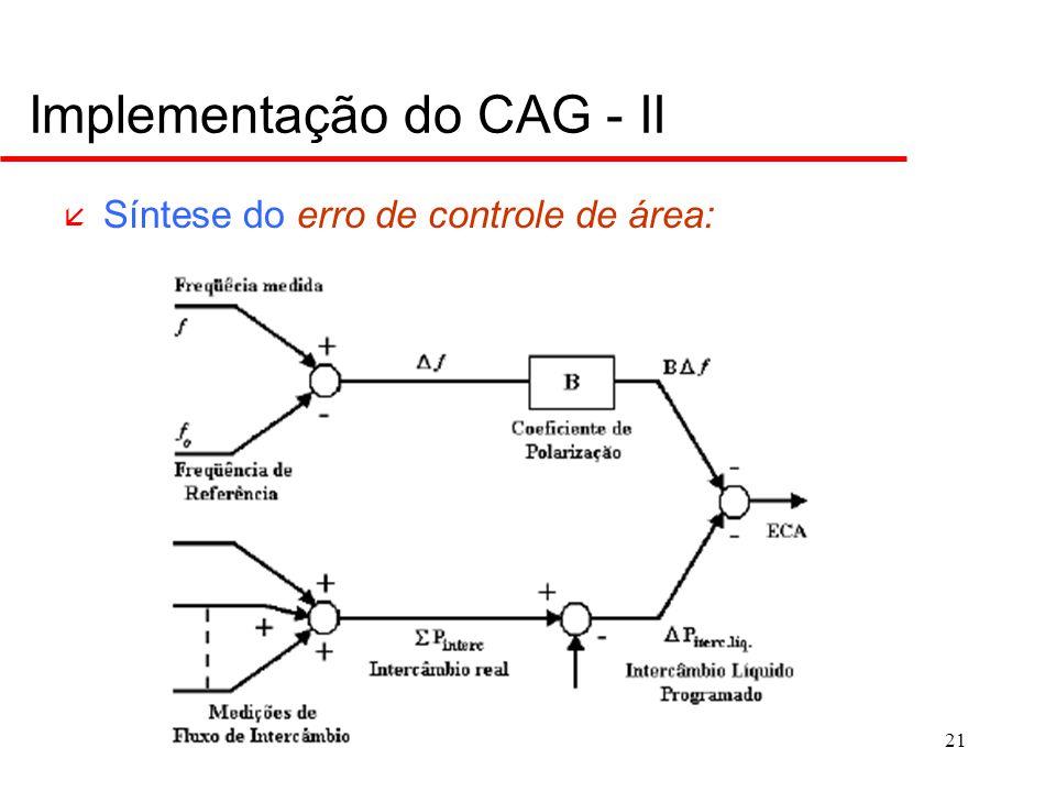Implementação do CAG - III