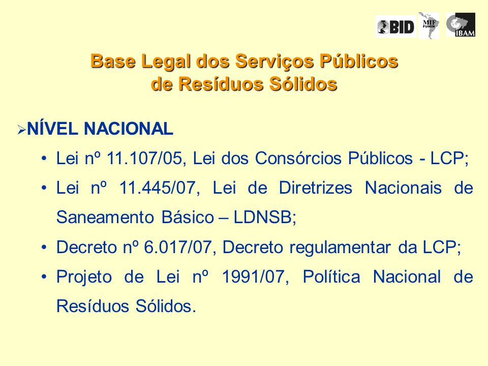 Base Legal dos Serviços Públicos