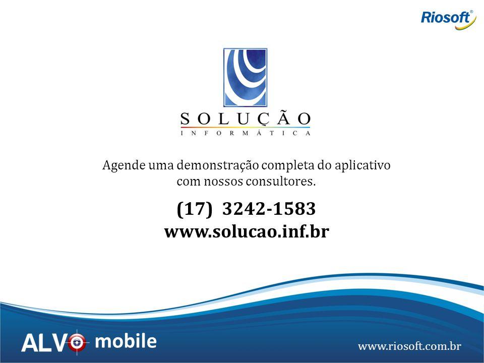 Agende uma demonstração completa do aplicativo com nossos consultores.