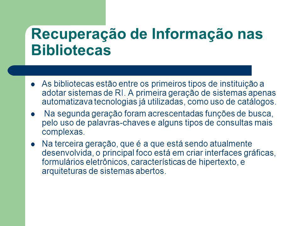 Recuperação de Informação nas Bibliotecas