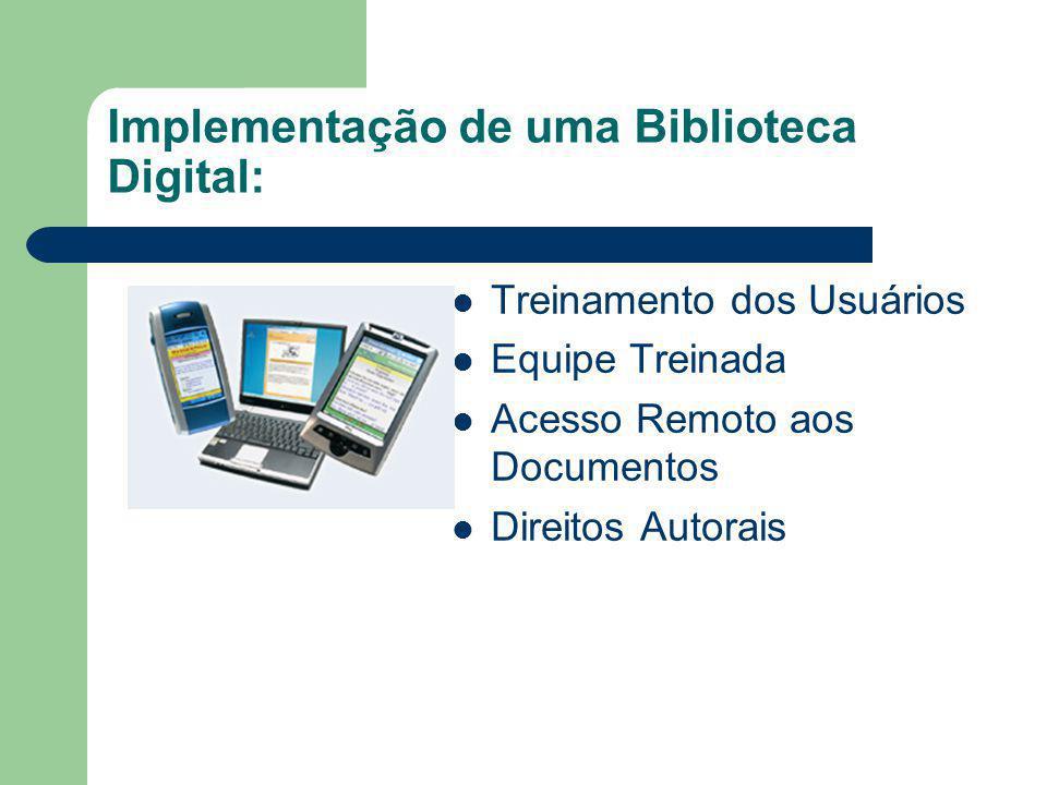 Implementação de uma Biblioteca Digital: