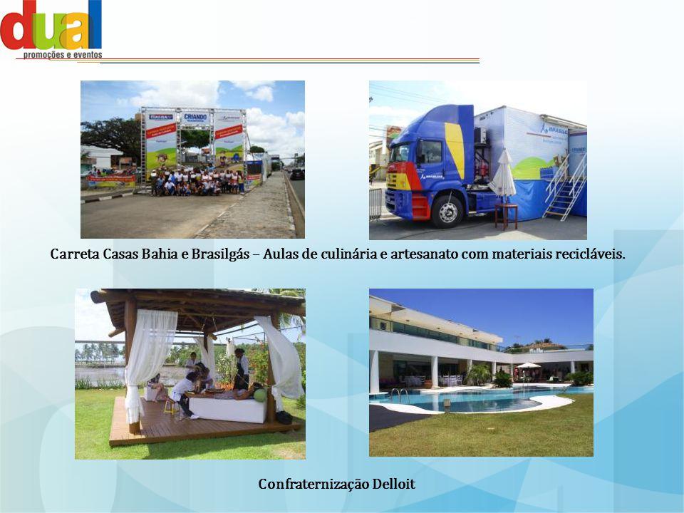 Carreta Casas Bahia e Brasilgás – Aulas de culinária e artesanato com materiais recicláveis.