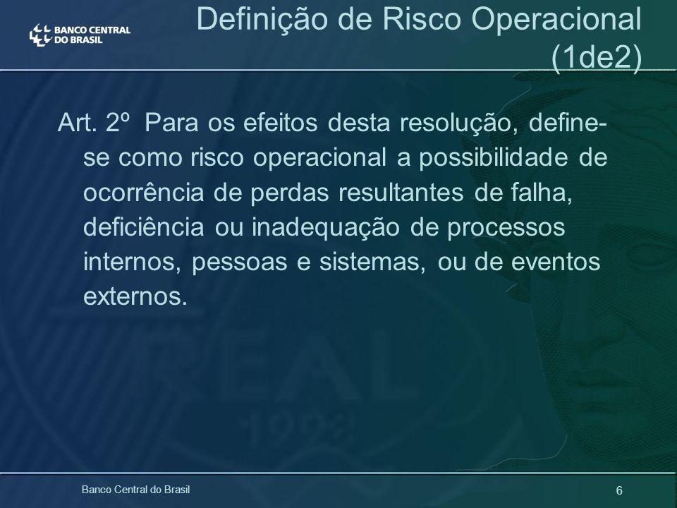 Definição de Risco Operacional (1de2)