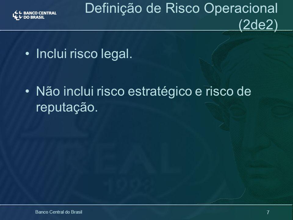 Definição de Risco Operacional (2de2)