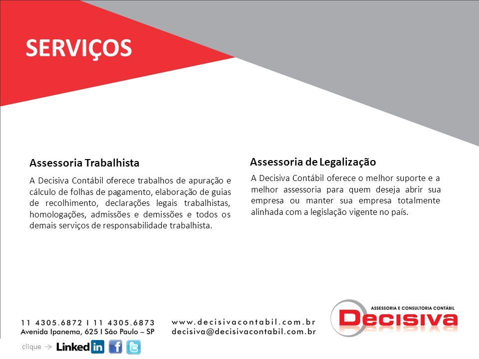 SERVIÇOS Assessoria Trabalhista Assessoria de Legalização