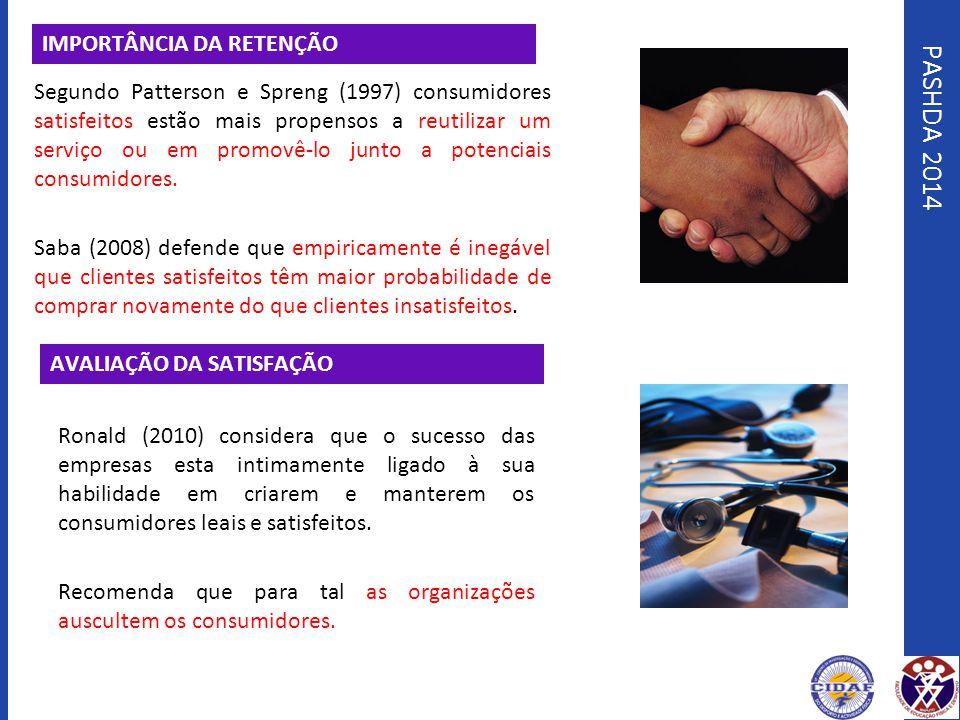 PASHDA 2014 IMPORTÂNCIA DA RETENÇÃO