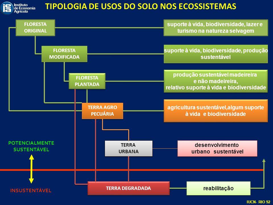 TIPOLOGIA DE USOS DO SOLO NOS ECOSSISTEMAS