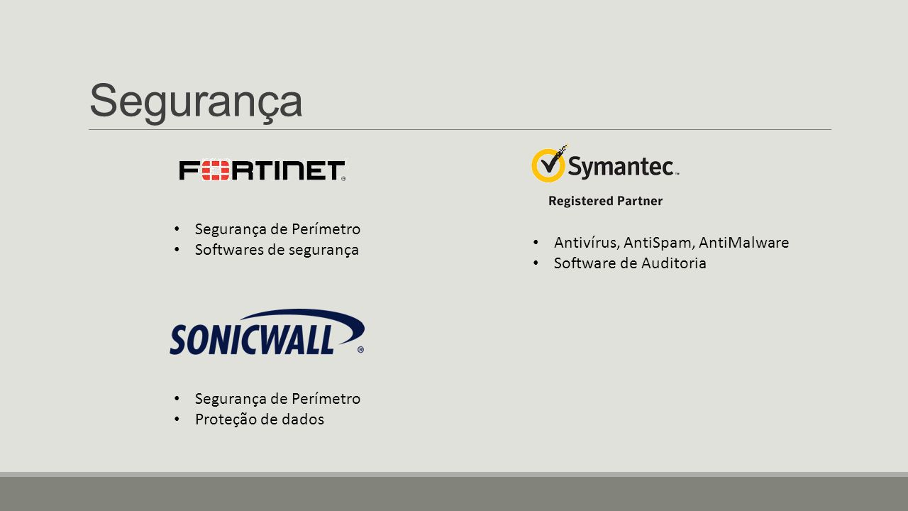 Segurança Segurança de Perímetro Softwares de segurança