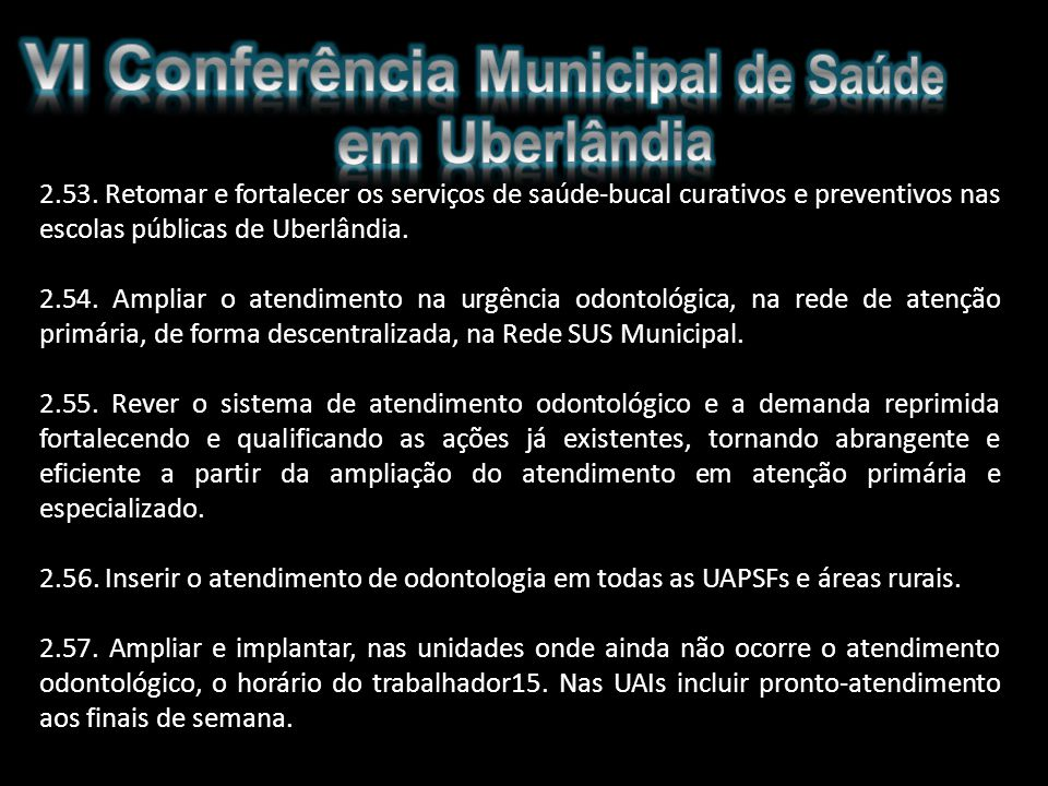VI Conferência Municipal de Saúde em Uberlândia