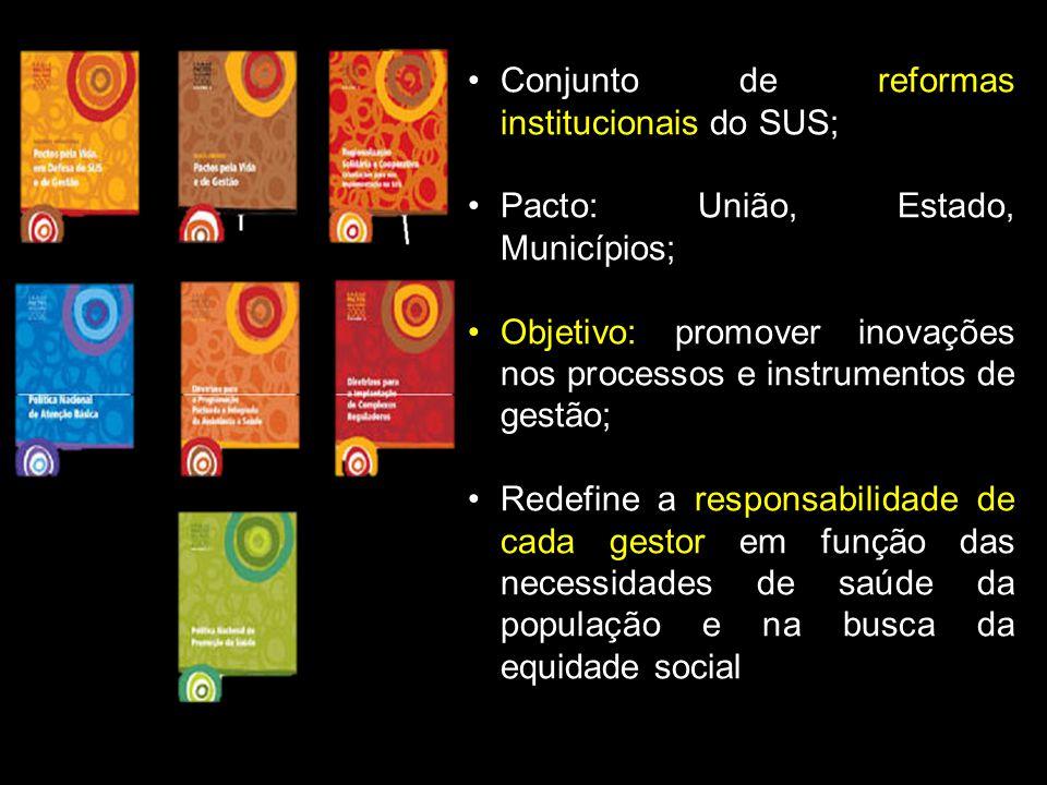 Conjunto de reformas institucionais do SUS;