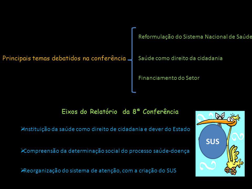 Eixos do Relatório da 8ª Conferência