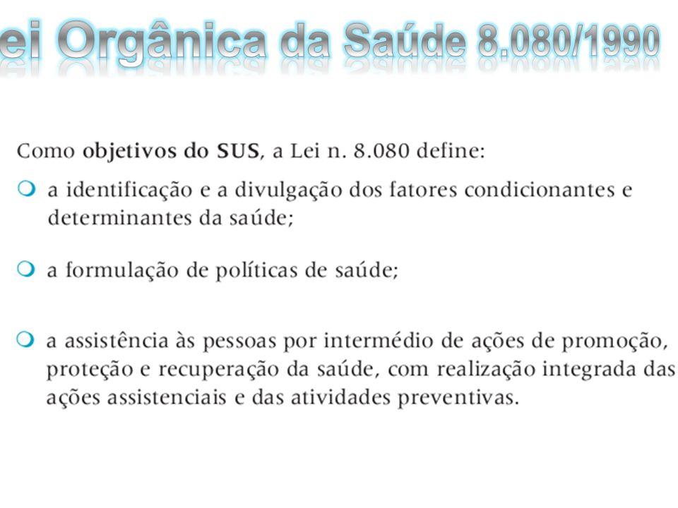 Lei Orgânica da Saúde 8.080/1990