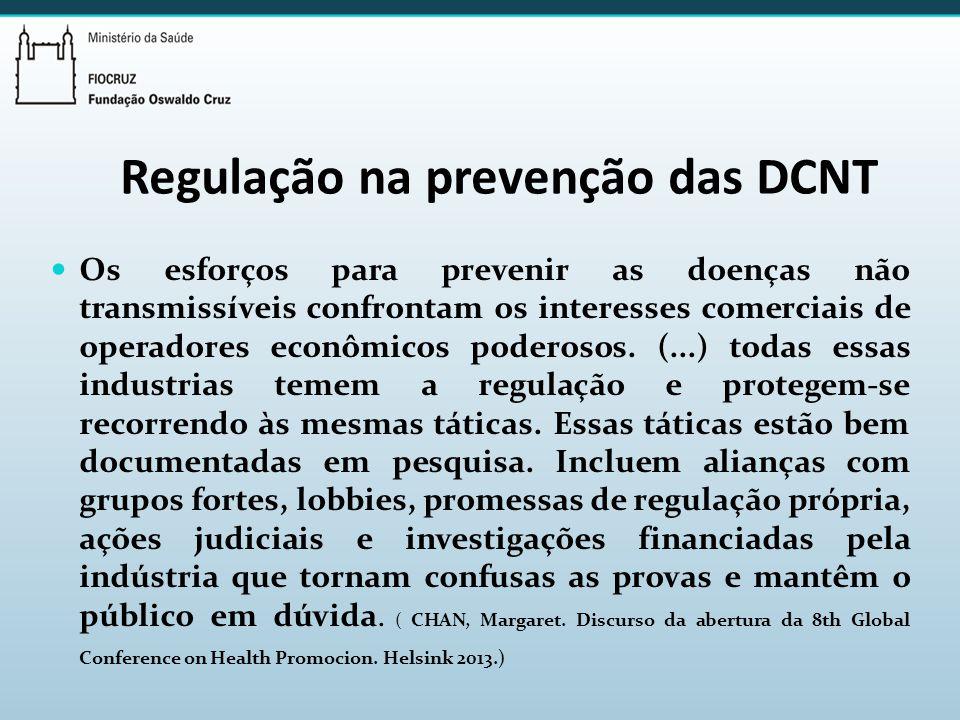 Regulação na prevenção das DCNT