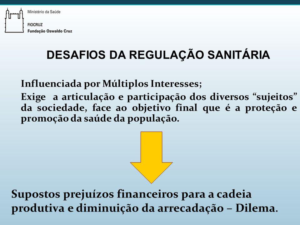 DESAFIOS DA REGULAÇÃO SANITÁRIA