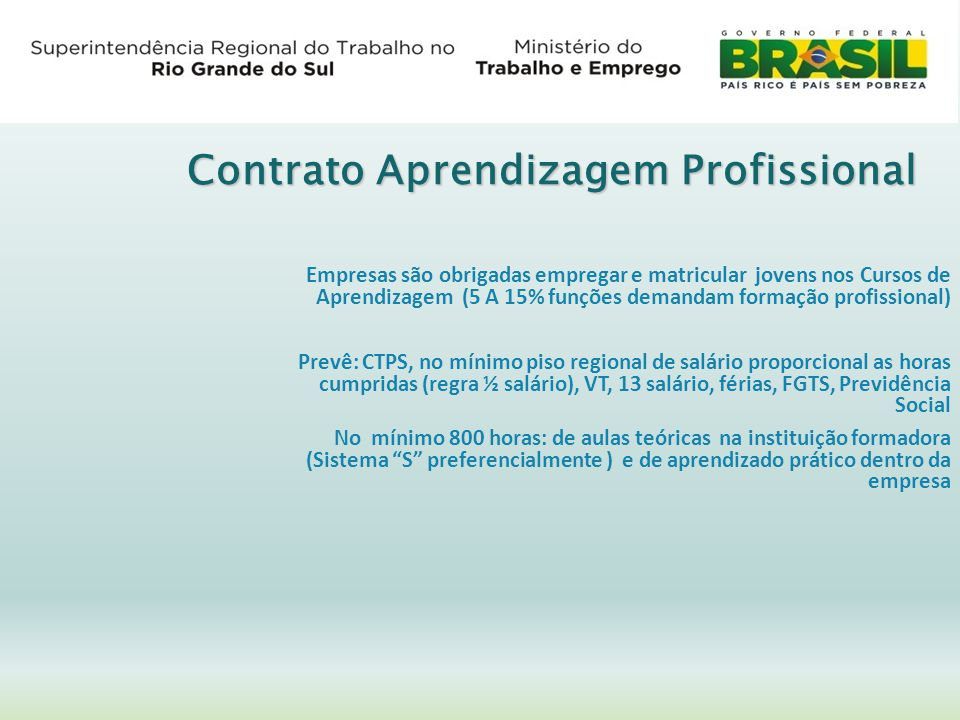 Contrato Aprendizagem Profissional