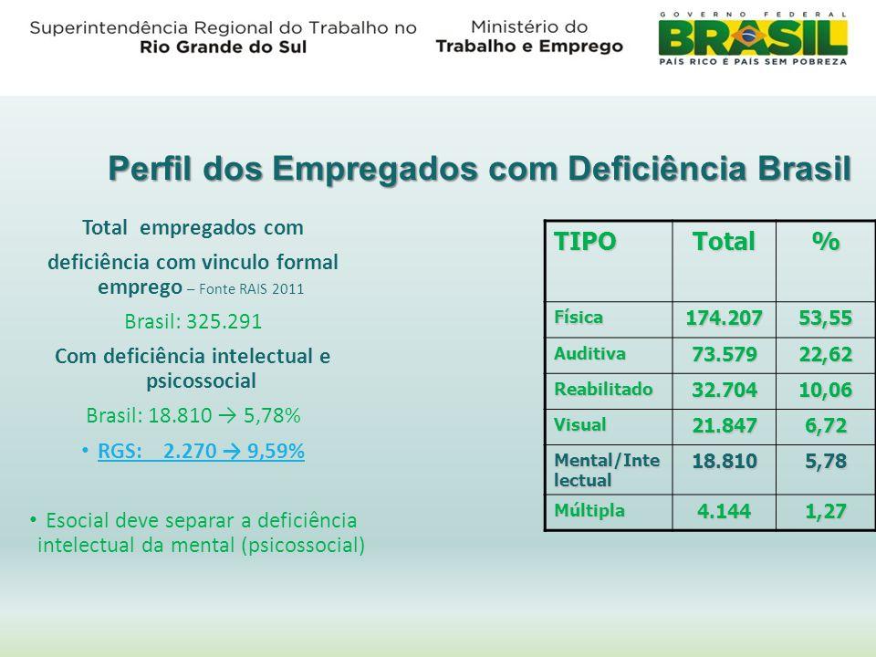 Perfil dos Empregados com Deficiência Brasil