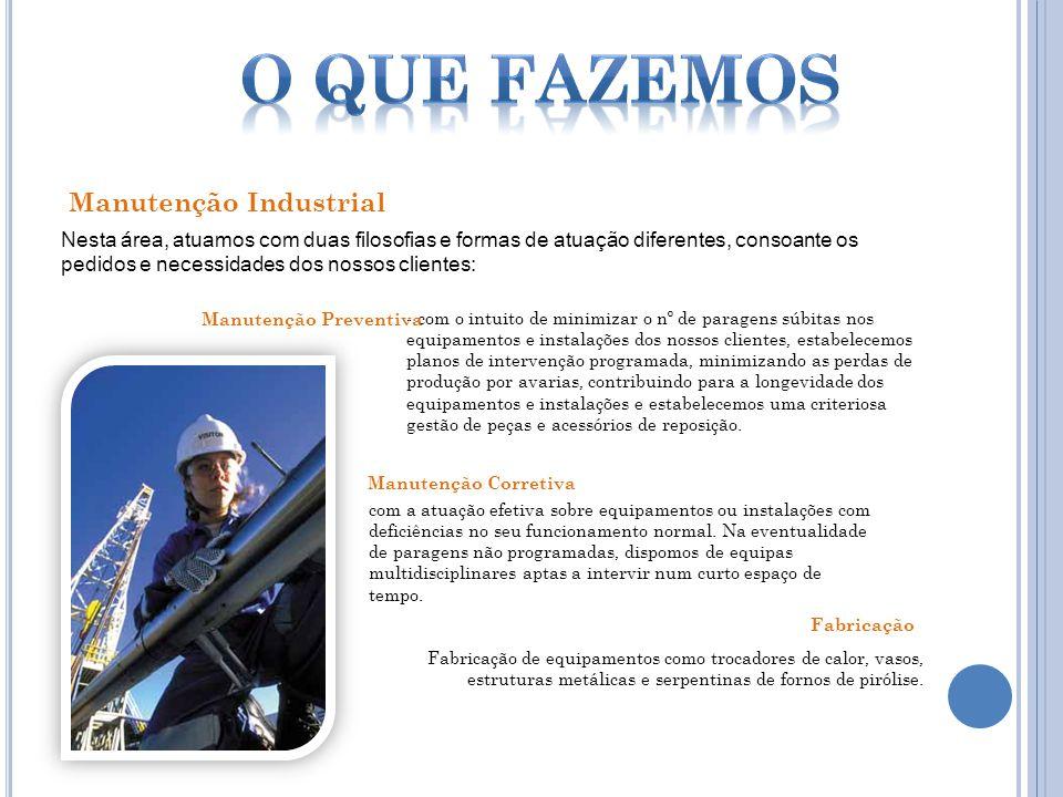 O que Fazemos Manutenção Industrial