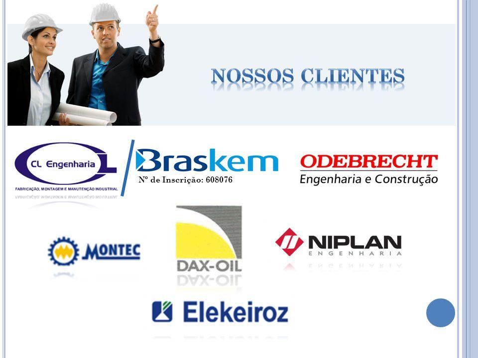 Nossos clientes Nº de Inscrição: 608076
