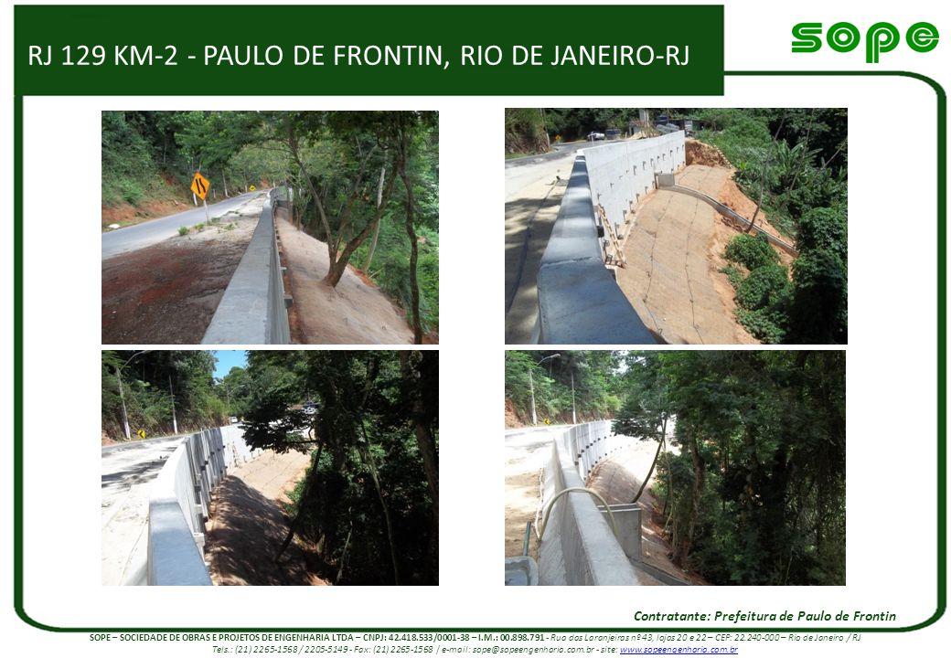 RJ 129 KM-2 - PAULO DE FRONTIN, RIO DE JANEIRO-RJ