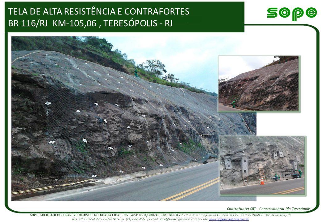 TELA DE ALTA RESISTÊNCIA E CONTRAFORTES