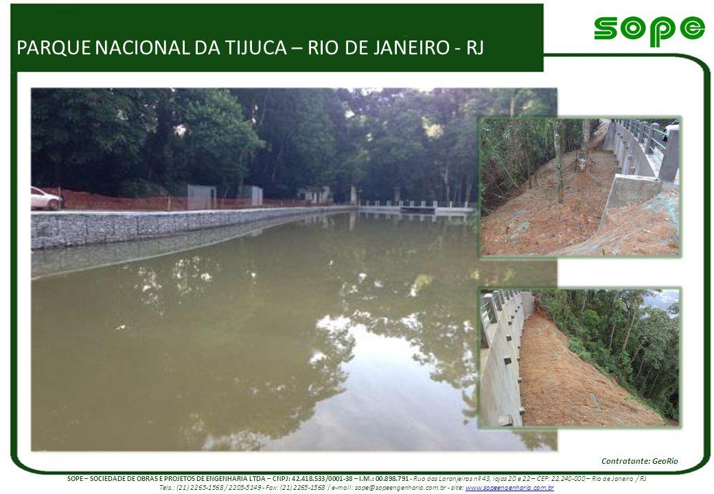 PARQUE NACIONAL DA TIJUCA – RIO DE JANEIRO - RJ