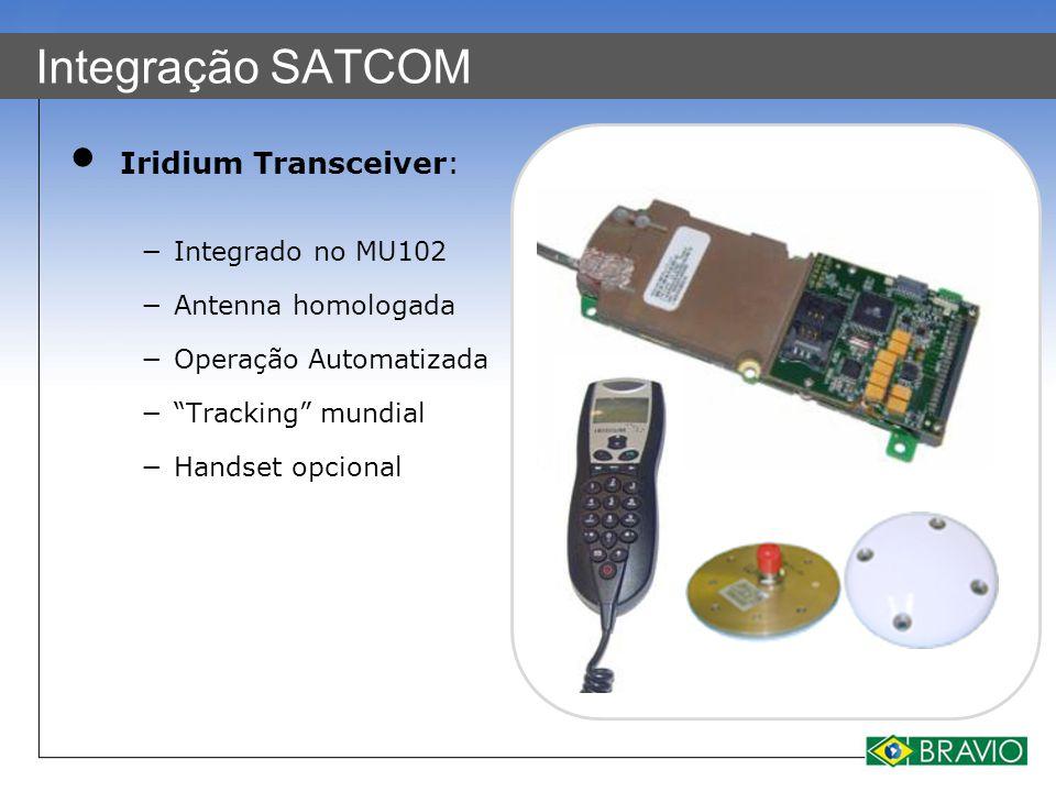 Integração SATCOM Iridium Transceiver: Integrado no MU102