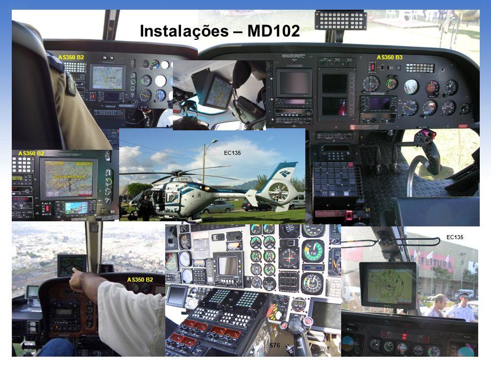 Instalações – MD102 S76 AS350 B2 AS350 B3 AS350 B2 EC135 EC135