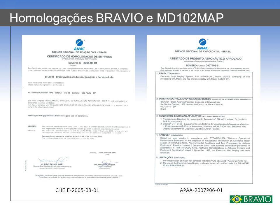 Homologações BRAVIO e MD102MAP