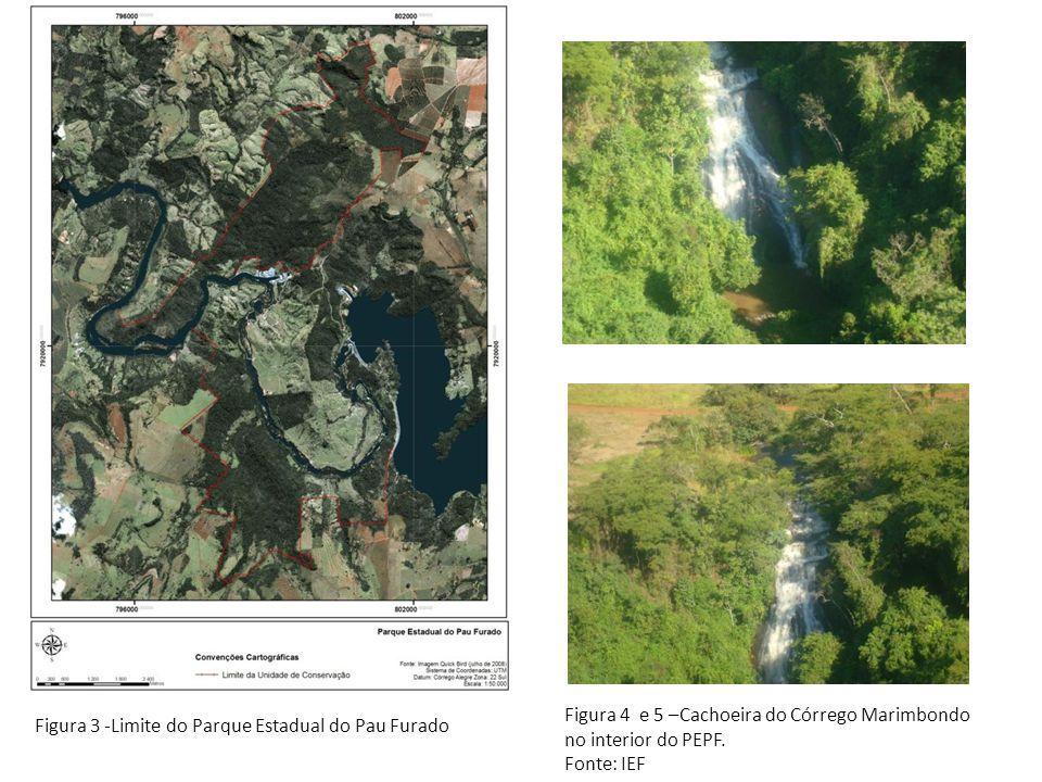 Figura 4 e 5 –Cachoeira do Córrego Marimbondo