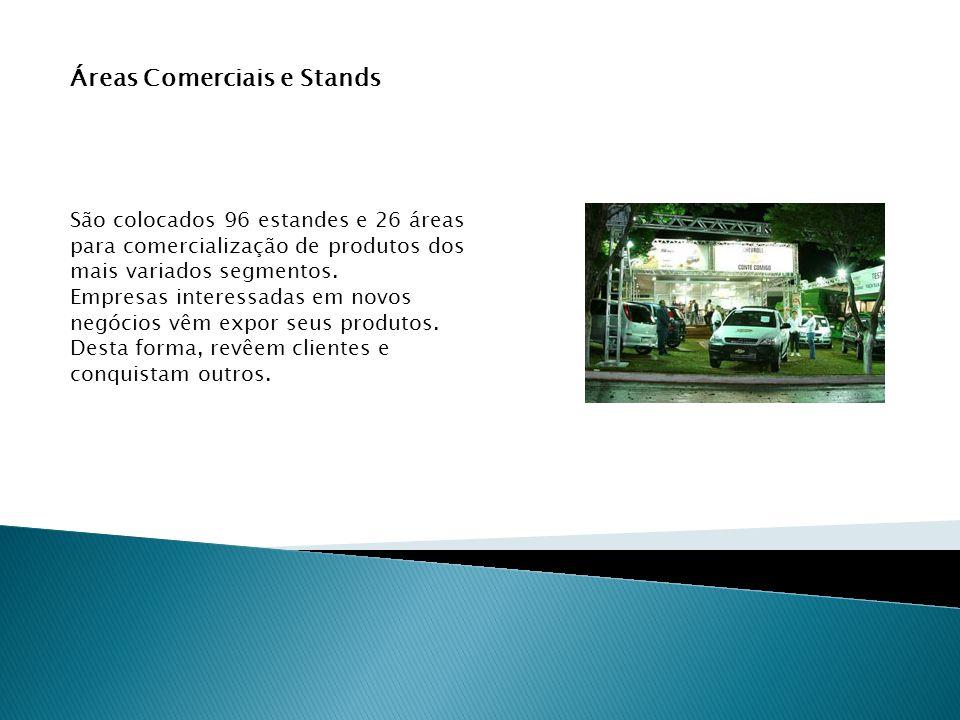 Áreas Comerciais e Stands