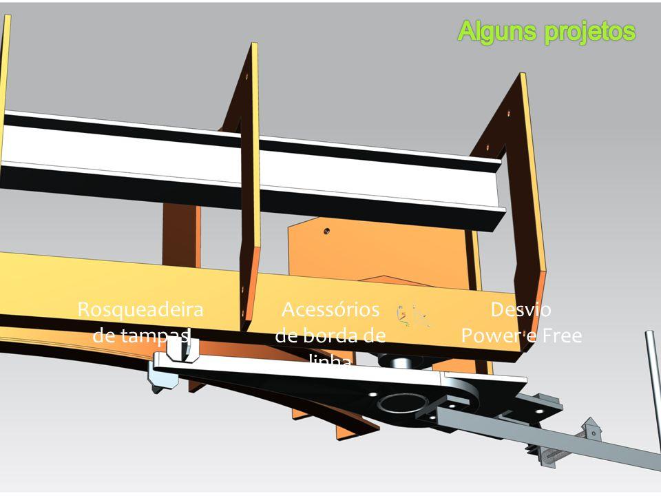 Alguns projetos Rosqueadeira de tampas Acessórios de borda de linha