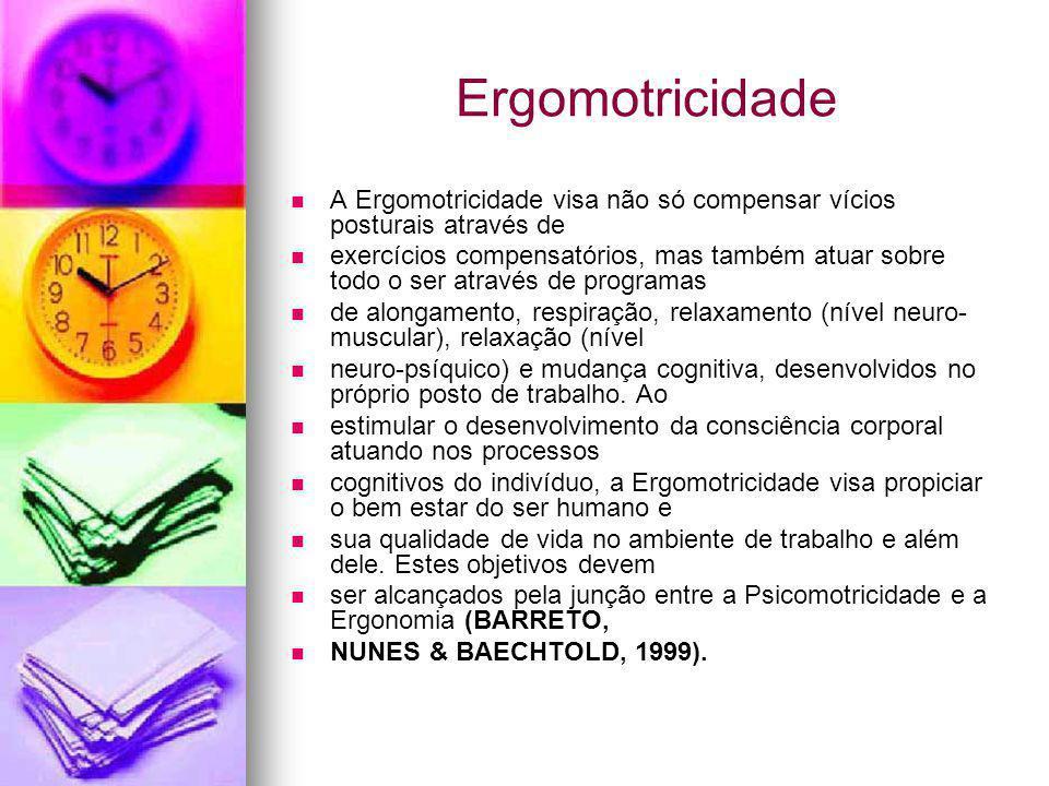 Ergomotricidade A Ergomotricidade visa não só compensar vícios posturais através de.