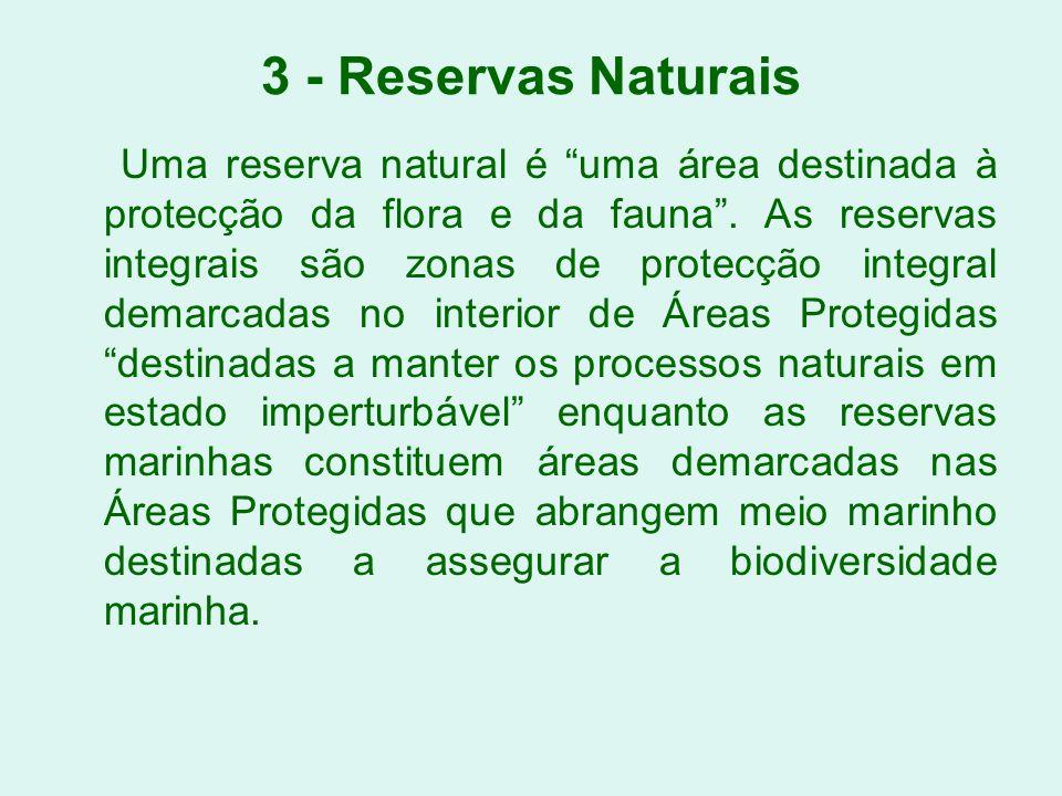 3 - Reservas Naturais