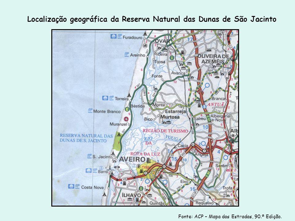 Localização geográfica da Reserva Natural das Dunas de São Jacinto