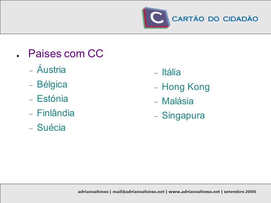 Paises com CC Áustria Bélgica Itália Estónia Hong Kong Finlândia